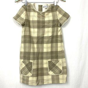 Brooks Brothers Wool Dress Girls 12 Plaid